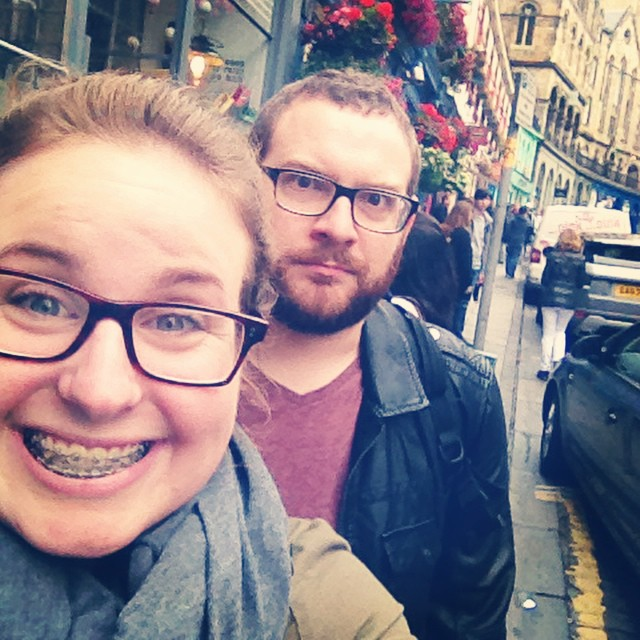 Boyfriend and I on Victoria Street. I'm clearly extremely happy that there is a street on top of a street. Boyfriend thinks I'm weird, like usual.