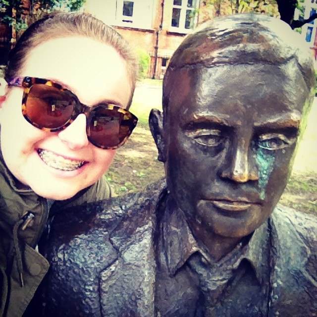 Selfie with my love, Alan Turing.