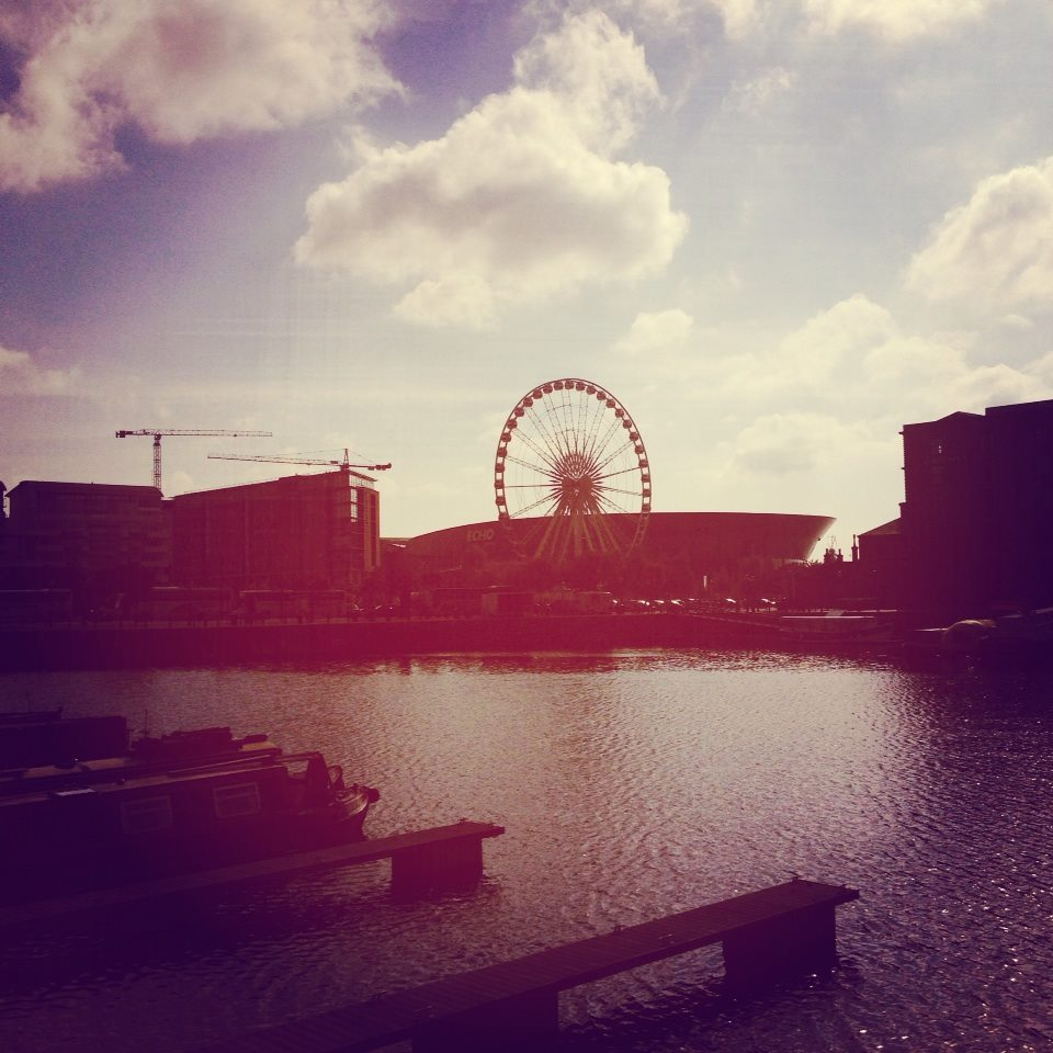 This is the wharf area in Liverpool. So pretty!